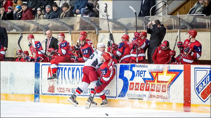 9 февраля 2015 года. Ижевск. Регулярный чемпионат ВХЛ. Ижсталь - Зауралье - 1:2